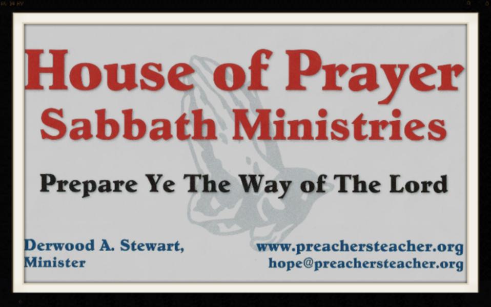 House of Prayer Sabbath Ministries - Church in Norfork, AR